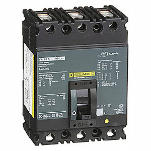 SQUARE D Circuit Breaker 70 Amps Number Of Poles 3 480VAC AC Voltage Rating