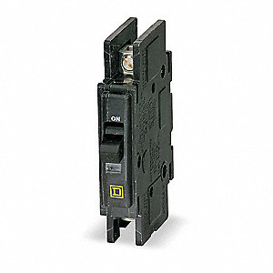 Unit Mount Circuit Breaker, QOU, Number of Poles 1, 20 Amps, 120/240VAC, High Interrupting Capacity