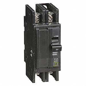 Unit Mount Circuit Breaker, QOU, Number of Poles 2, 30 Amps, 120/240VAC, Standard