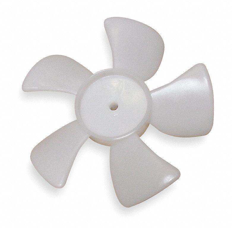 "4 Blades FAN BLADE 3//16/"" Shaft Hole 6/"" Cooler Freezer Hobart White"