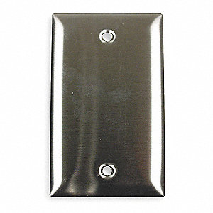 Blank Wall Plate,1 Gang,Silver
