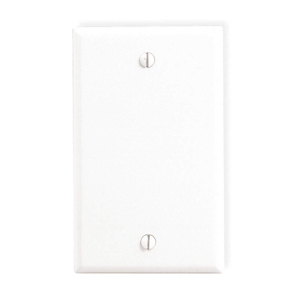 Leviton Blank Wall Plate Ivory Number
