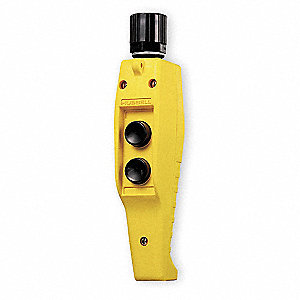 2-Button Up/Down Pendant Push Button Station, 2NO, NEMA Rating 4X, Yellow