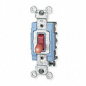 LEVITON Pilot Light Wall Switch, Switch Type: 3-Way, Switch Function ...