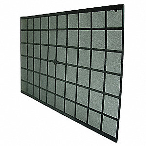 Trim To Fit Rigid Foam Filter,15x24x1/4""