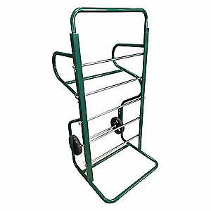 "26-1/2""L x 27""W x 54-1/2""H Green Wire Spool Cart, 750 lb. Load Capacity"