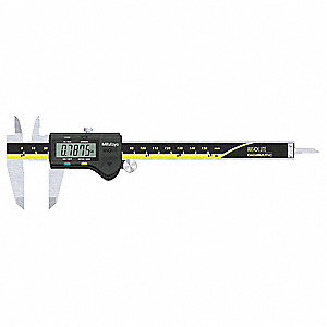 "Stainless Steel Absolute Digital Caliper, 0.0005""/0.01mm Resolution"
