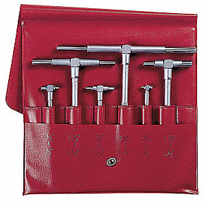 Telescoping Gage Set, Number of Pieces: 6, 0.315 to 6 Range (In.), 4-5 Depth (In.)