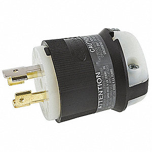 Locking Plug, 30 Amps, 120/208VAC Voltage, NEMA Configuration: L18-30P, Number of Poles: 4