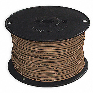 Solid THHN Building Wire, Brown, 500 ft. 14 AWG