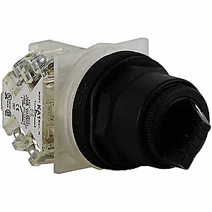 Non-Illuminated Selector Switch, Size: 30mm, Position: 2, Action: Maintained / Momentary