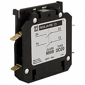 Auxiliary Contact, 10 Amps, Instantaneous Type, Side Mounting