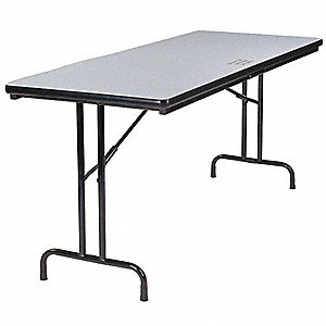 "34""H x 72""W x 30""D Rectangular Folding Table, Gray"