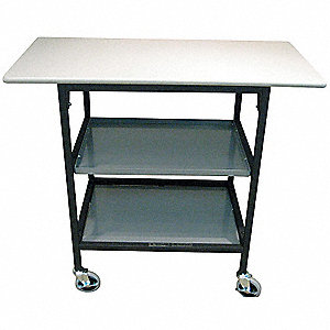 Adjustable Height Mobile Work Table, 200 lb. Load Capacity