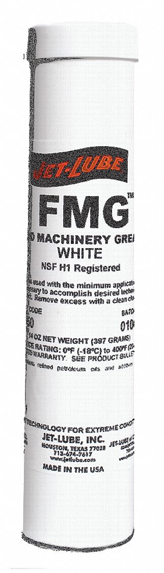 White,  Aluminum Complex,  Machinery Grease,  14 oz,  2 NLGI Grade