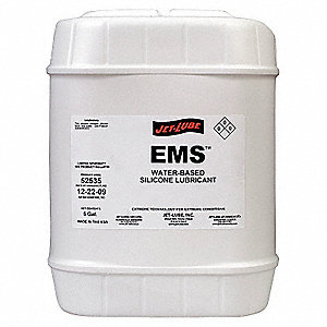 Lubricant, -25°F to 750 Degrees F, Silicone, 5 gal. Jug