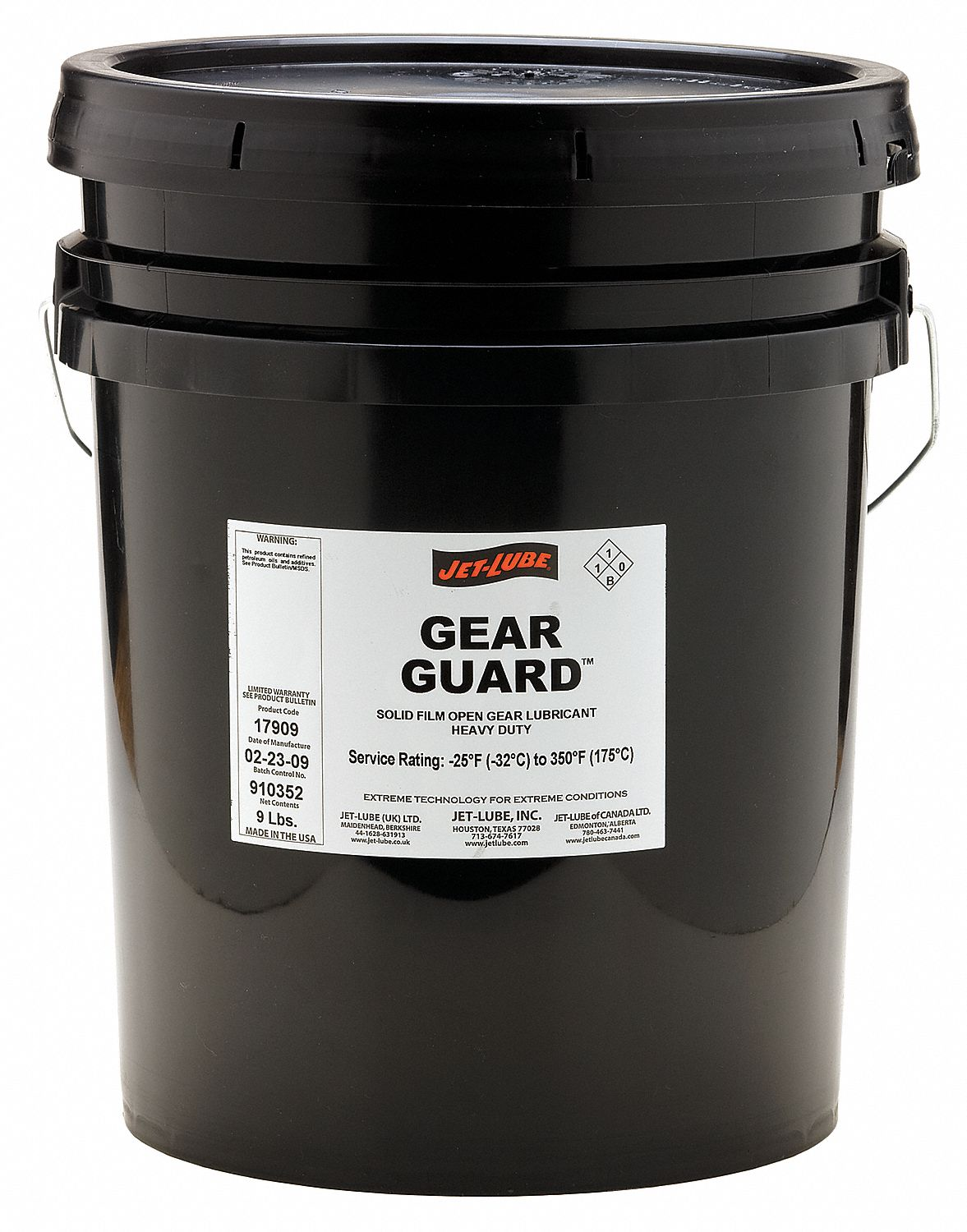 JET-LUBE Open Gear and Wire Rope Lubricant, 5 gal. Pail, Petroleum ...