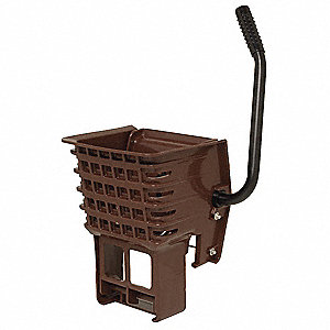 Side Press Mop Wringer, Brown, Plastic, 16 to 24 oz. Mop Capacity