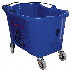 Mop Bucket,8-3/4 gal.,Blue