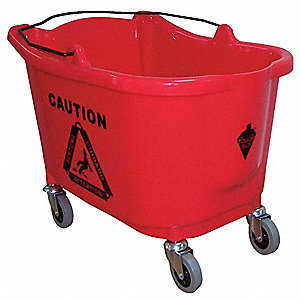 Mop Bucket,8-3/4 gal.,Red