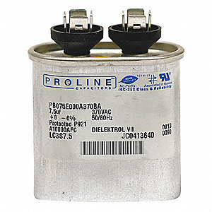 RUN CAPACITOR,2 MFD,370 VAC,OVAL