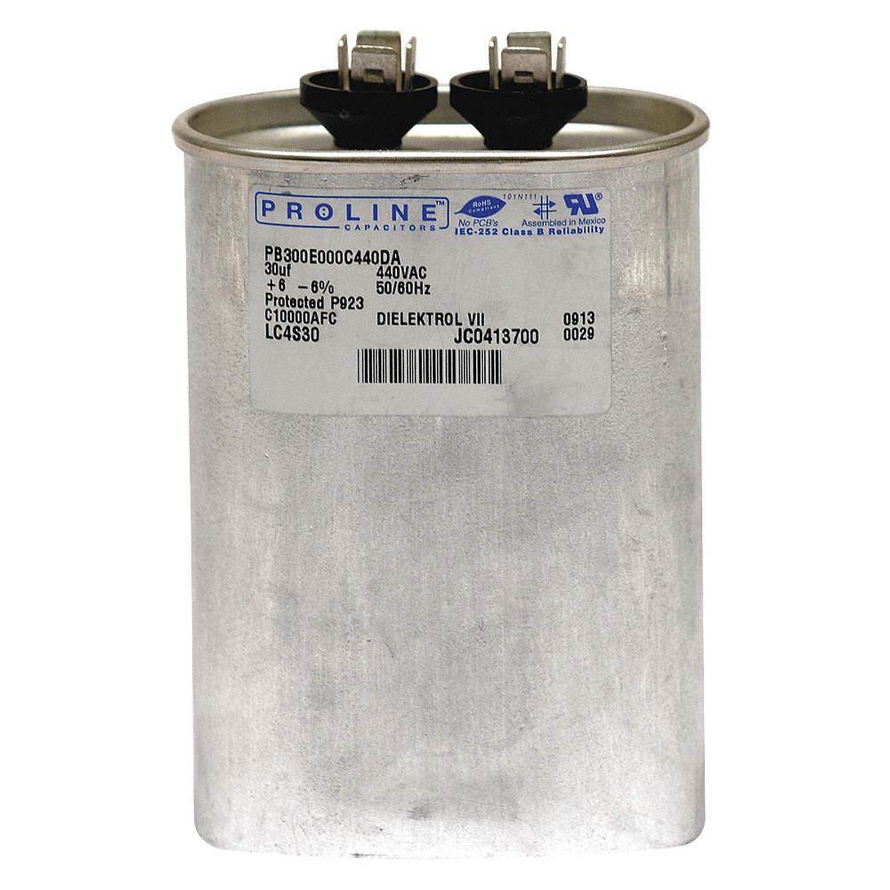 2MDZ4 30 Microfarad Rating 440VAC Voltage Dayton Oval Motor Run Capacitor