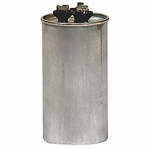 Round Motor Dual Run Capacitor,60/7.5 Microfarad Rating,370VAC Voltage