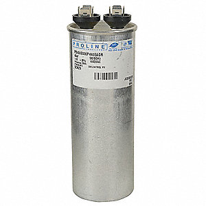 Round Motor Run Capacitor,40 Microfarad Rating,440VAC Voltage