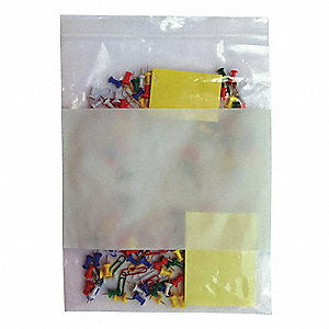 Reclosable Bag,Standard,LDPE,Seal,PK1000