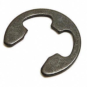 External E Style Retaining Ring, For Shaft Dia. 6mm, Carbon Steel, 100 PK