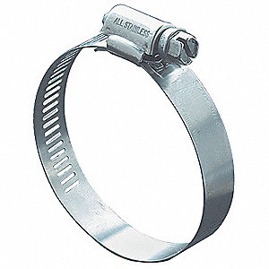 Hose Clamp,7/16 to 1 In,SAE 8,SS,PK10
