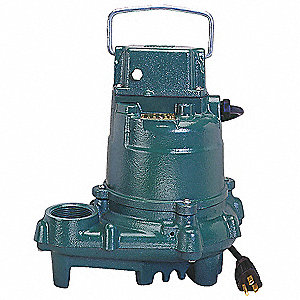 3/10 HP Submersible Sump Pump, None Switch Type, Cast Iron Base Material