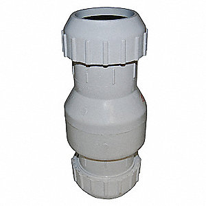 "3"" Full Flow Check Valve, PVC, Compression Connection Type"