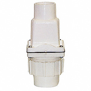 "1-1/2"" Check Valve with Union, PVC, Socket Connection Type"