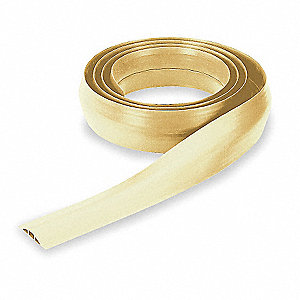 "Cable Protector, 1-Channel, Beige, 10 ft. x 17/32""H, Max. Cable Dia.: 5/16"""