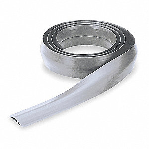"Cable Protector, 1-Channel, Gray, 10 ft. x 17/32""H, Max. Cable Dia.: 1/4"""