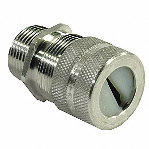 "Aluminum Cord Connector, Conduit Size: 3/4"", Cord Dia. Range: 0.26"" to 0.78"""
