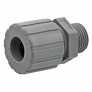 Liquid Tight Connector,1/2 in.,Brown