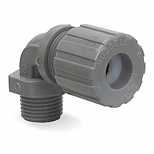 "Nylon Liquid Tight Cord Connector, Conduit Size: 1"", 3-5/16"" Length"