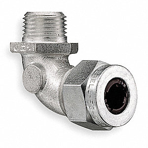 "Zinc-Plated Steel Liquid Tight Cord Connector, Conduit Size: 3/4"", 2-7/8"" Length"