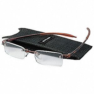 Clear Scratch-Resistant Reading Glasses, +2.0 Diopter