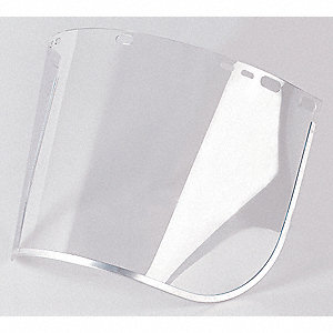 Faceshield Visor,Plycrb,AlBd,Cl,8x15-1/2