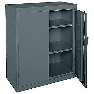 "Commercial Storage Cabinet, Charcoal, 42"" H X 36"" W X 18"" D, Assembled"