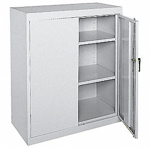 "Commercial Storage Cabinet, Dove Gray, 42"" H X 36"" W X 24"" D, Assembled"