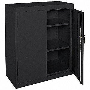 "Commercial Storage Cabinet, Black, 42"" H X 36"" W X 24"" D, Assembled"