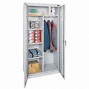 "Storage Cabinet, Dove Gray, 78"" Overall Height, Assembled"