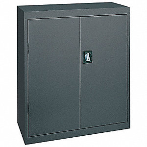 "Storage Cabinet, Charcoal, 42"" Overall Height, Assembled"