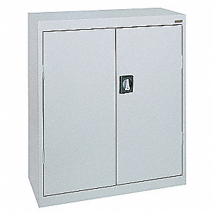 "Storage Cabinet, Dove Gray, 42"" Overall Height, Assembled"