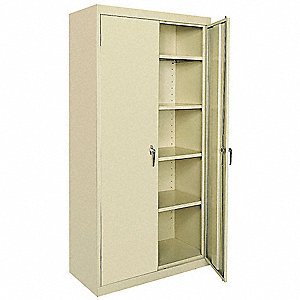 "Storage Cabinet, Tropic Sand, 72"" Overall Height, Assembled"