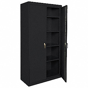 "Storage Cabinet, Black, 72"" Overall Height, Assembled"